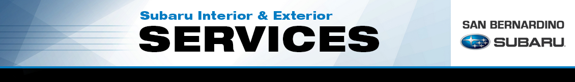 Find out more about interior and exterior repair services for your Subaru serving Riverside and Rancho Cucamonga, CA