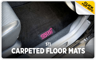 Click to view STI Carpet Floor Mats information at Subaru of San Bernardino