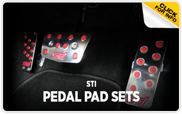 Click to view STI Pedal Pad Sets information at Subaru of San Bernardino