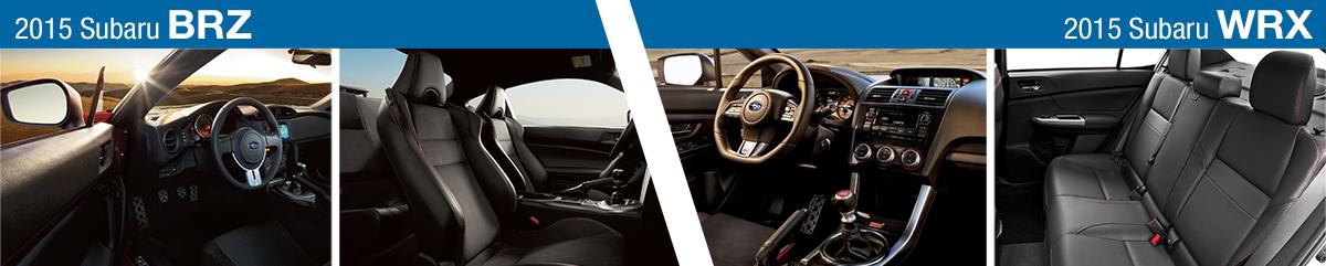 2015 Subaru BRZ VS 2015 Subaru WRX Model Comparison | San