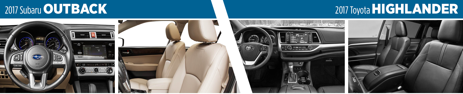 2017 Subaru Outback Vs 2017 Toyota Highlander Interior Comparison
