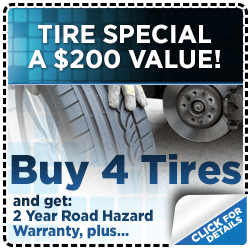 Click for our complimentary rotation and road hazard protection warraty with tire purchase special at Subaru of San Bernardino
