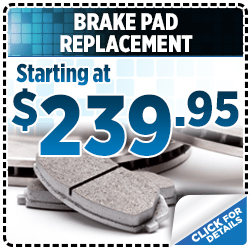Click to browse our Subaru brake pad replacement service special in San Bernardino, CA