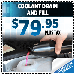 Click to view our coolant drain and fill service special at Subaru of San Bernardino