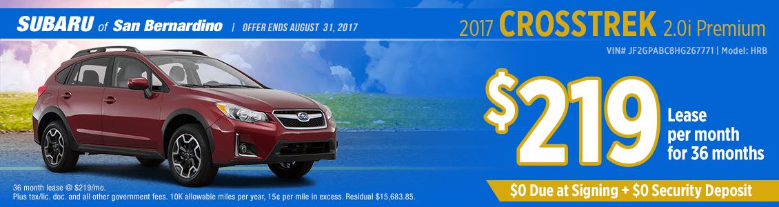 2017 Subaru Crosstrek Premium Lease Special in San Bernardino, CA
