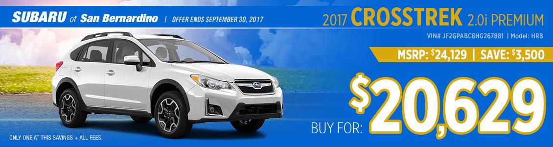 2017 Subaru Crosstrek 2.0i Premium Purchase Special in San Bernardino, CA