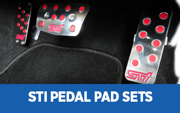 Click to view our Subaru STI Pedal Pad Sets performance parts information in Surprise, AZ
