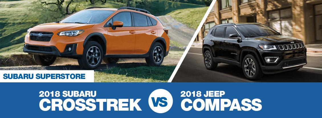 compare 2018 subaru crosstrek vs jeep compass crossover model comparison research surprise. Black Bedroom Furniture Sets. Home Design Ideas