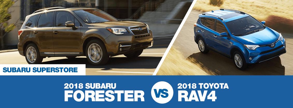 2018 Subaru Forester Vs 2018 Toyota RAV4 Comparison Information