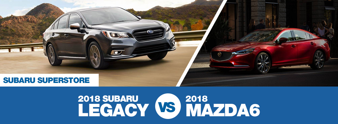 compare 2018 subaru legacy vs mazda6 mid size model comparison research surprise car leasing. Black Bedroom Furniture Sets. Home Design Ideas