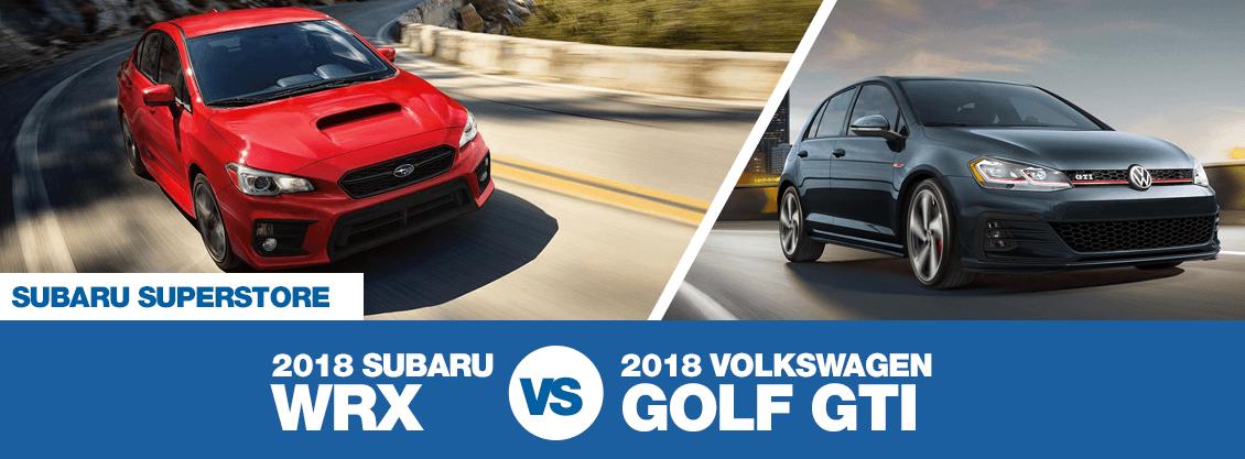 2018 Subaru Wrx Vs 2018 Volkswagen Golf Gti Sports Car Feature Comparison Surprise Az