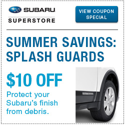 Click to view our genuine Subaru Splash Guard parts special.