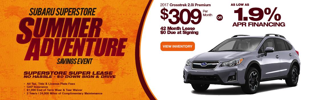 2017 Subaru Crosstrek 2.0i Premium Lease or Low APR Special serving Phoenix, AZ