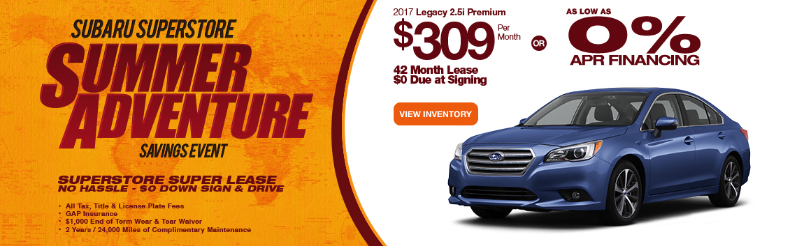 2017 Subaru Legacy 2.5i Premium Lease or Low APR Special serving Phoenix, AZ