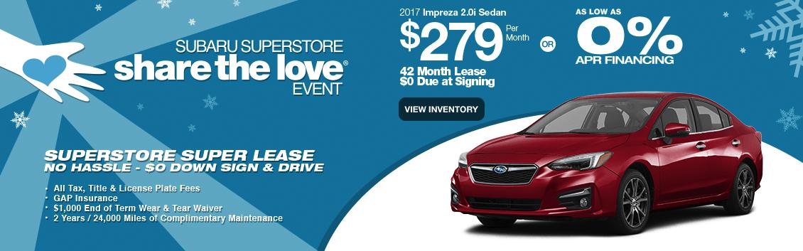 2017 Impreza 2.0i Sedan Lease or Low APR Finance Special in Surprise, AZ