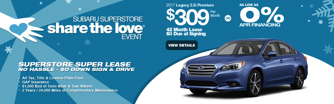 2017 Legacy 2.5i Premium Lease of Finance Special in Surprise, AZ
