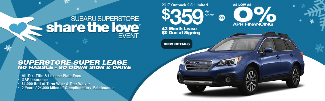 2017 Outback 2.5i Limited Lease or Low APR Finance Special in Surprise, AZ