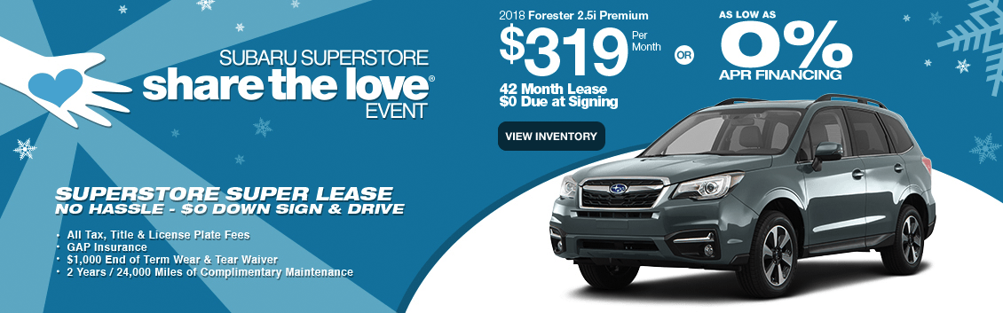 2018 Forester 2.5i Premium Lease or Finance Special in Surprise, AZ