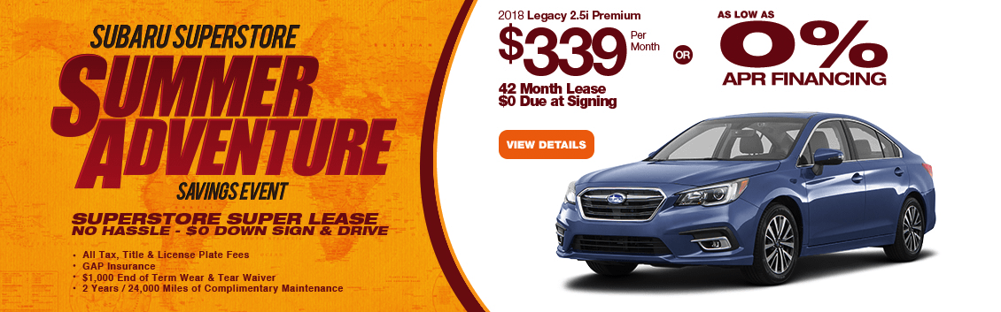 2018 Subaru Legacy 2.5i Premium Lease or Financing Special serving Surprise, AZ