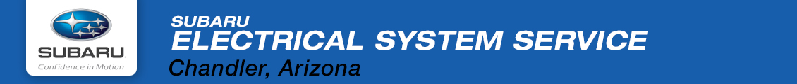 Learn more about Subaru electrical system service at Subaru Superstore in Chandler serving the Phoenix, AZ metro area
