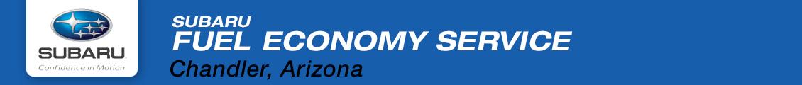 Subaru Fuel Economy Service Tips & Information provided by Subaru Superstore serving Phoenix, AZ