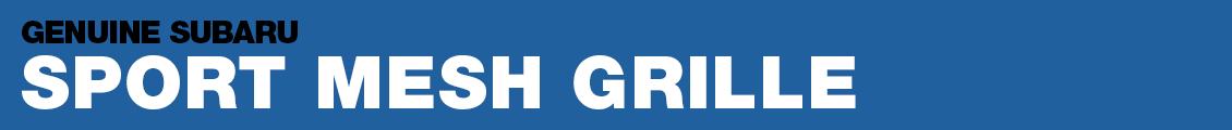 Subaru Sport Mesh Grille Performance Parts Information serving Phoenix, AZ
