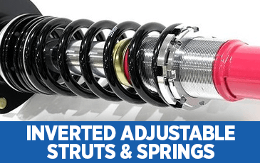 Click to browse our STI Inverted Adjustable Struts performance parts information at Subaru Superstore of Chandler