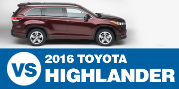 Click to Compare The 2016 Subaru Outback & 2016 Toyota Highlander Models