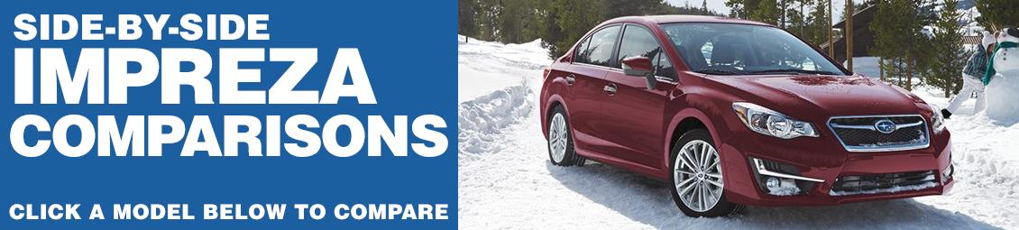 New 2016 Subaru Impreza Model Comparisons