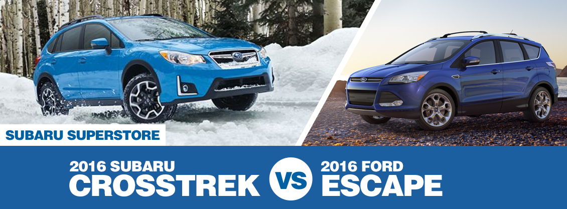 2016 Subaru Crosstrek vs 2016 Ford Escape Model Comparison in Chandler, AZ