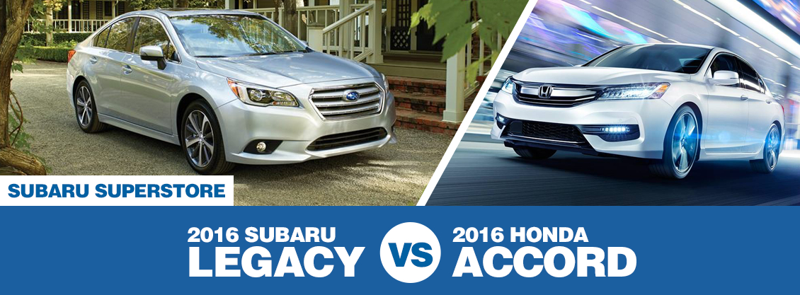 2016 Subaru Legacy vs 2016 Honda Accord Model Comparison in Chandler, AZ