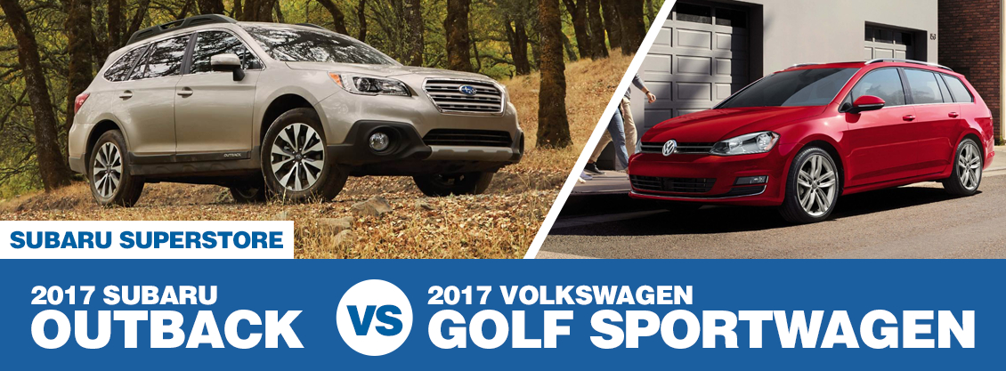Compare 2017 Subaru Outback VS Volkswagen Golf SportWagen at Subaru Superstore