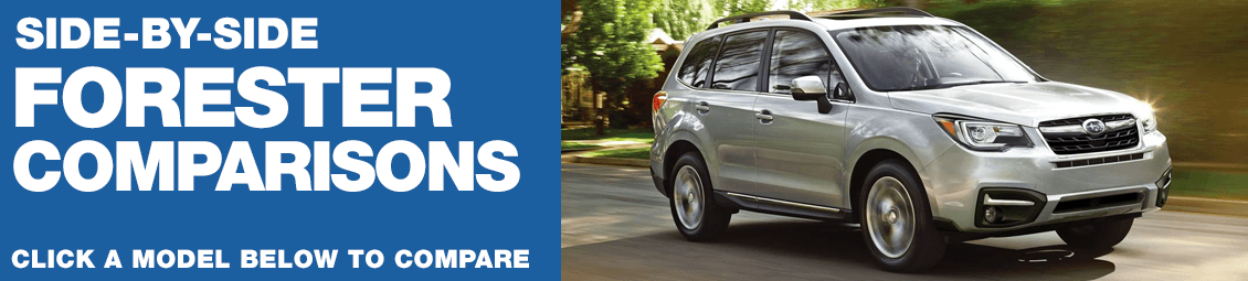 2018 Subaru Forester Model Comparisons in Chandler, AZ