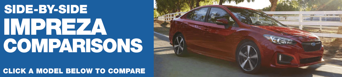 2018 Subaru Impreza Versus Competing Models in Chandler, AZ