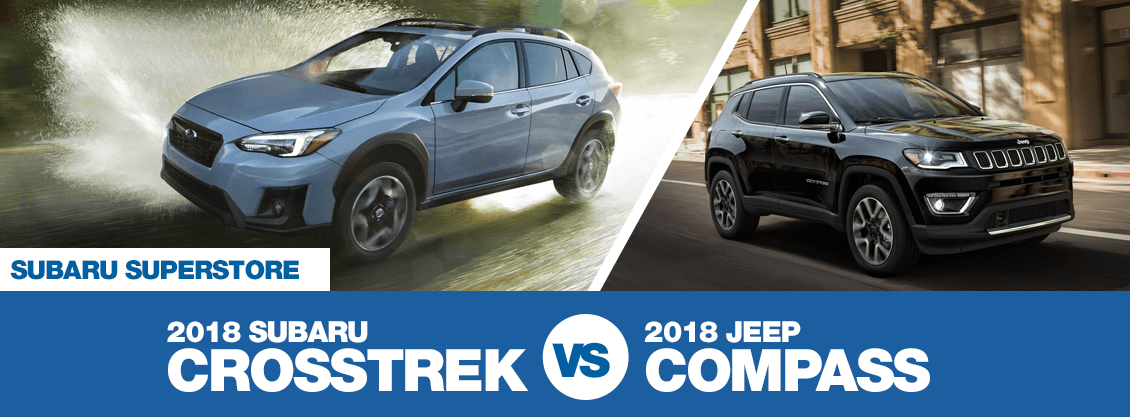 2018 Subaru Crosstrek versus 2018 Jeep Compass comparison in Chandler, AZ