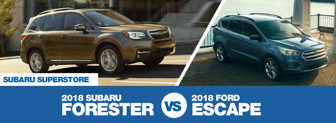Compare the 2018 Subaru Forester vs 2018 Ford Escape features in Chandler, AZ