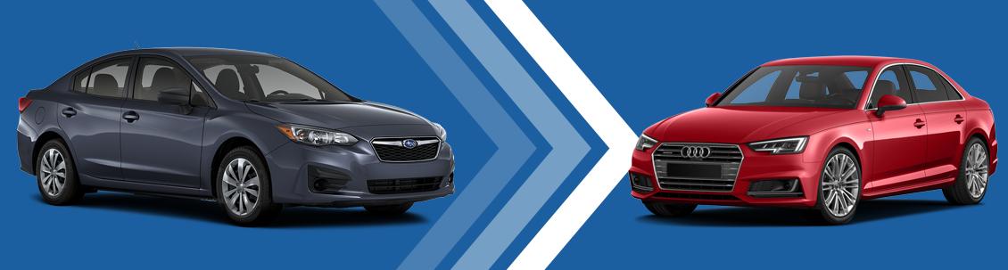 2017 Subaru Impreza VS Audi A4 Model Comparison at Subaru Superstore