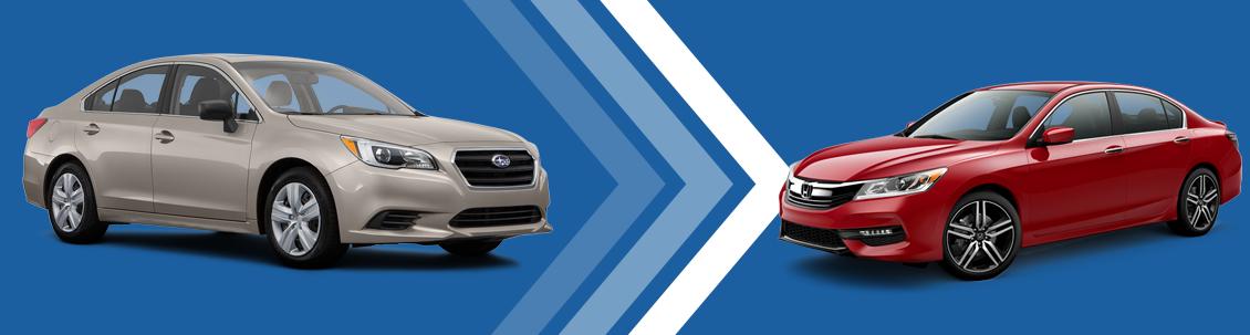 2017 Subaru Legacy VS Honda Accord Model Comparison at Subaru Superstore