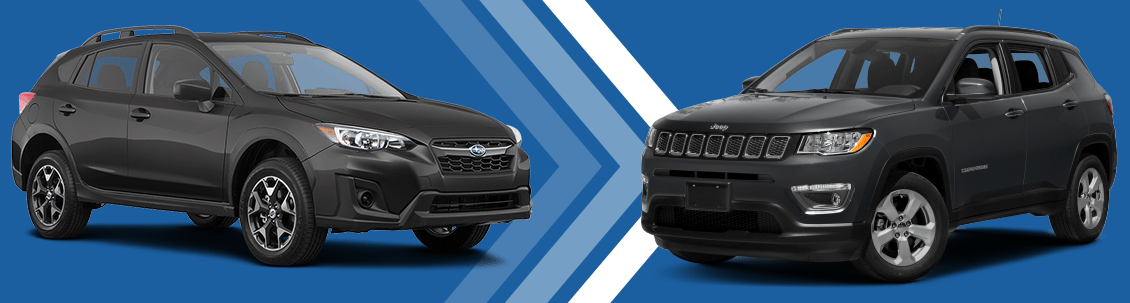 2018 Subaru Crosstrek vs 2018 Jeep Compass Exterior Comparison