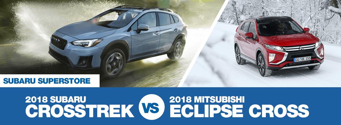 Compare 2018 Subaru Crosstrek vs Mitsubishi Eclipse Cross