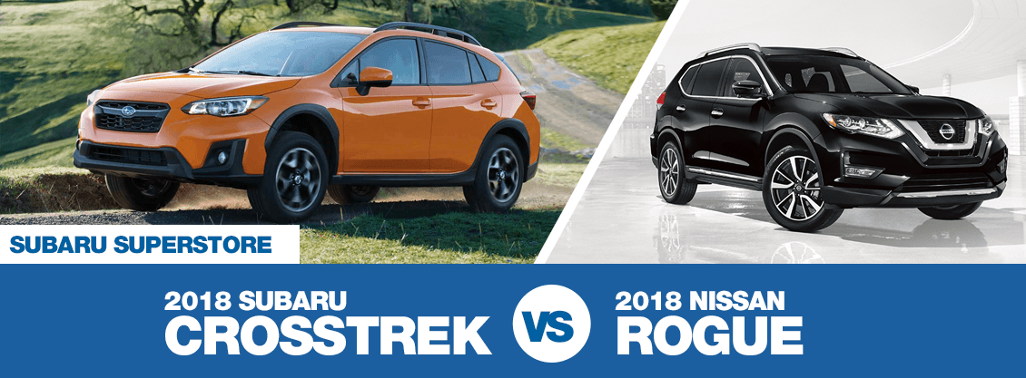 2018 Subaru Crosstrek versus 2018 Nissan Rogue comparison in Chandler, AZ