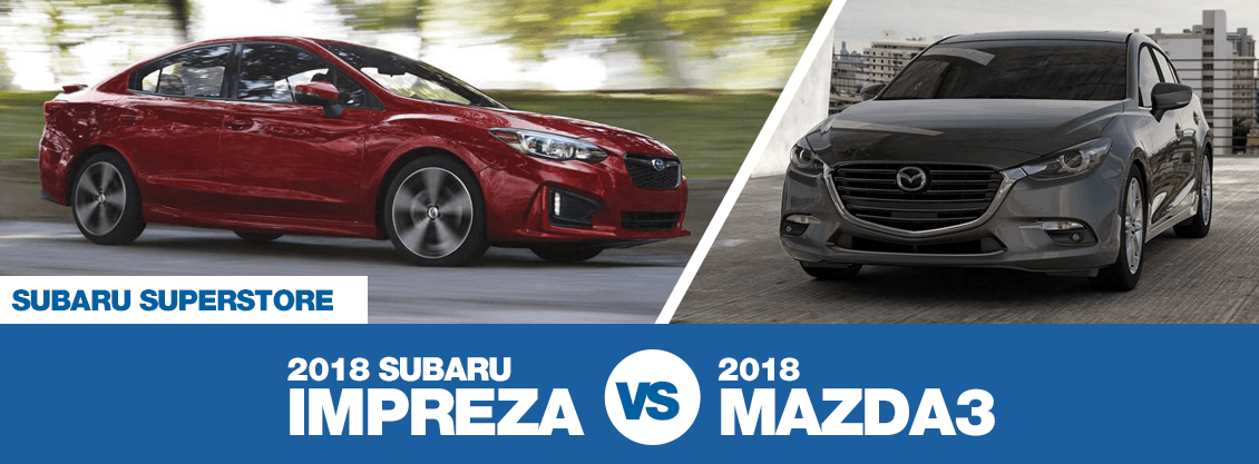 2018 Subaru Impreza versus 2018 Mazda3 comparison in Chandler, AZ