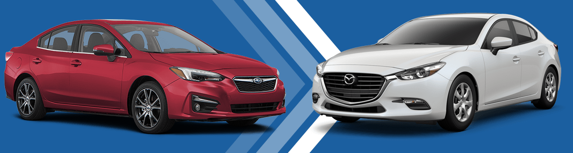 2018 Subaru Impreza vs 2018 Mazda3 Comparison