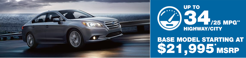 2017 Subaru Legacy Model MSRP and MPG