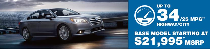 2017 Subaru Legacy Model MSRP and MPG