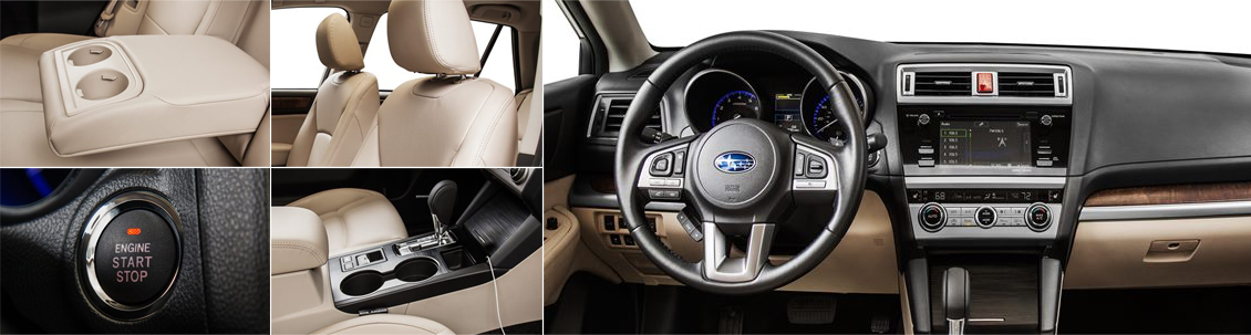 2017 Subaru Outback Model Interior Styling and Features