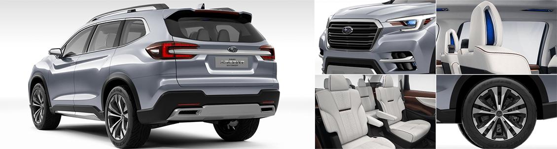 2018 Subaru Ascent Exterior & Interior Design Features