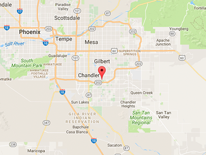 Subaru Superstore is located at 1050 S. Gilbert Road, Chandler, AZ 85286