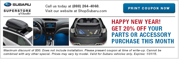 Genuine Subaru Accessories & Parts Discount Coupon