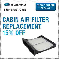 Click to view our Cabin Air Filter replacement service special.
